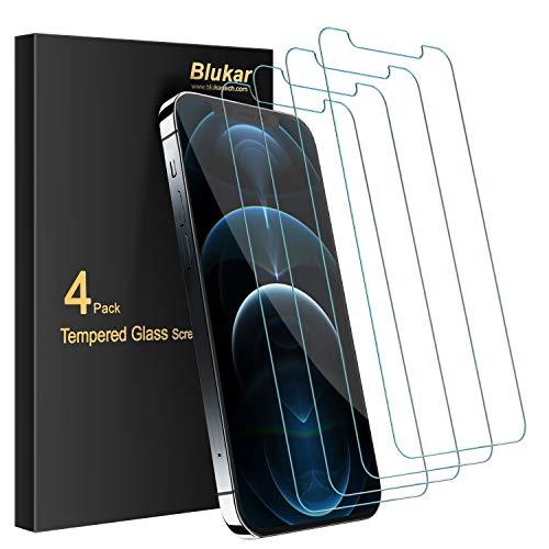 Blukar Panzerglas Kompatibel mit iPhone 12 Pro Max (6.7