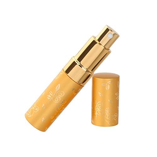 15ml Vaporisateur de Parfum Vide Atomiseur Flacon de Pulvérisation - Doré
