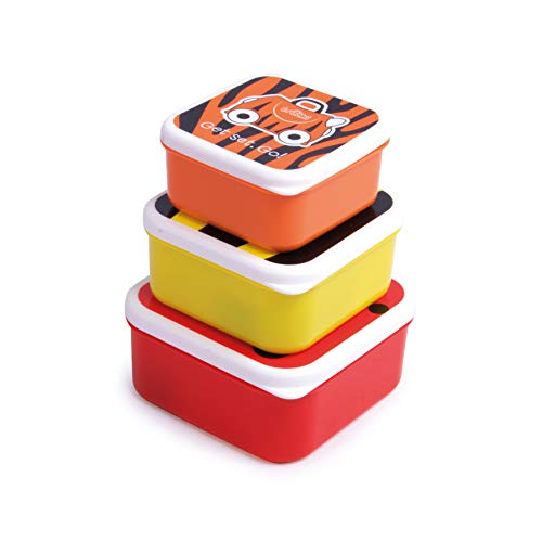Trunki Set infantil de 3 tuppers para snacks – Animales tigre, abeja y mariquita