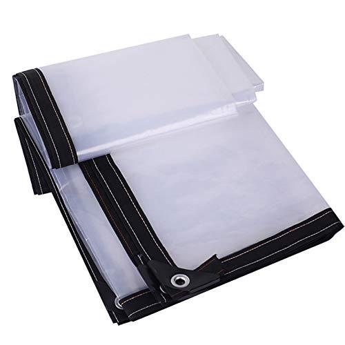 QIAOH Lona Impermeable Transparente 5x8m, con Ojales Y Toldos Y Lonas, Resistente A La Intemperie, Resistente Al Agua, Cubierta Plegable para Plantas, Cubierta Anti-envejecimiento