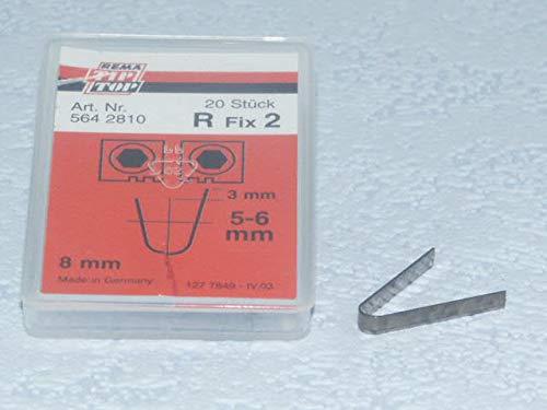 Rema Tip Top Schneidmesser für Rubber Cut 414, 400, R Fix 2 20 Stück, Nachschneidmesser, Profilschneidmesser 564281