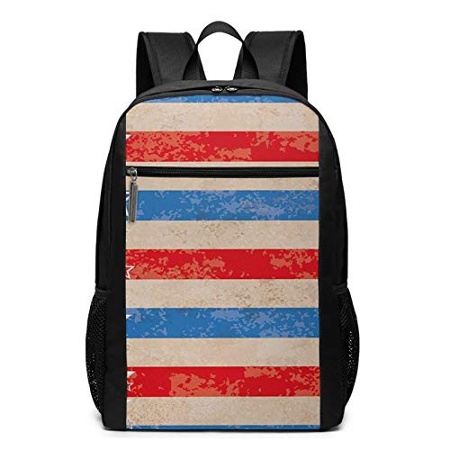 School Backpack 4th July 453, College Book Bag Business Travel Daypack Casual Rucksack for Men Women Teenagers Girl Boy