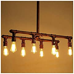 Bulb and Size:82*31cm This Industrial table lamp is versatile, well match for all kinds of decoration style such as retro styles, steampunk or contemporary styles. Unique decoration for your living room, bedroom, hallway, study room ,dinning room eve...