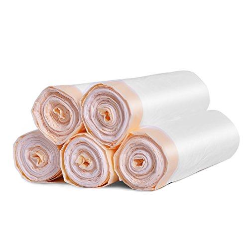 ごみ袋 meidongひも付きゴミ袋 キッチンバッグ ごみ袋(5ロール/ 115カウント )