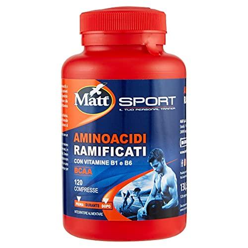 Matt Sport Integratore Alimentare Aminoacidi Ramificati, 120 Compresse, 130.5g