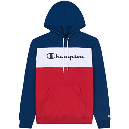 Champion Sweat-shirt à capuche pour homme 216196 Large bleu