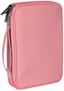 SmartLifeTime Double Layer Bag Waterproof Universal Electronics Accessories Organizer Travel Power Bank Pad (Large, Pink)