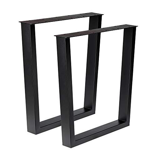 Holzwerk Design Tischbein Tischgestell Stahl schwarz Trapez-Form TUG 605 Tischuntergestell Tischkufe Neu Paar