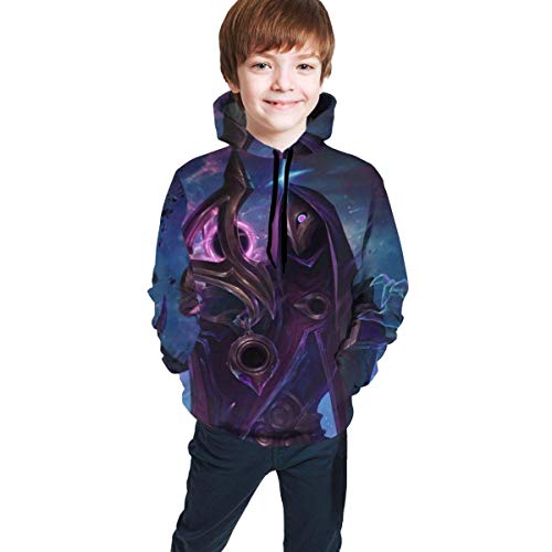 Yuanmeiju Jhin The Virtuoso Teens Hoodie Print Pull-Over Personalised Hoodies Seatshirts Sweater for Boys Girls Teen Kid's