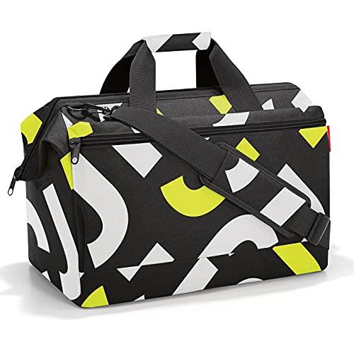 Reisenthel Allrounder L Pocket MK2029 in Signature Bold Yellow gelb – Reisetasche mit 32l Volumen – Hochwertig und bequem – B 48 x H 39,5 x T 29 cm - Praktische Trolley-Aufsteckfunktion