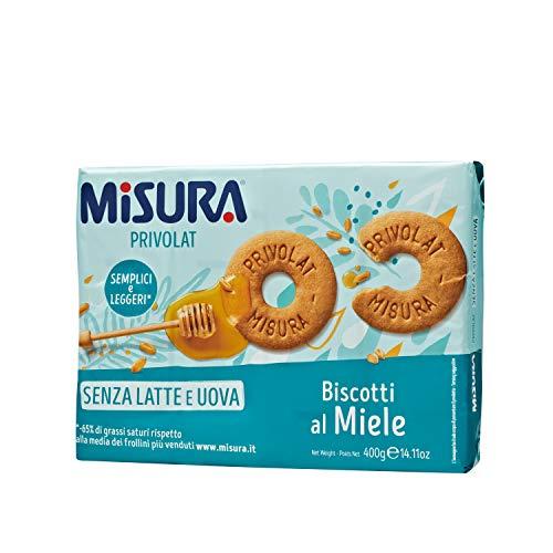 Misura Biscotti al Miele Privolat | Senza Latte e Uova | 3 Confezioni da 400 grammi