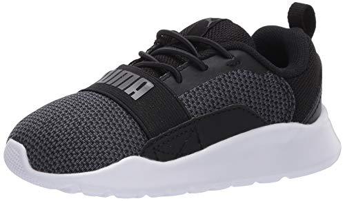 PUMA Baby Wired Slip On Sneaker, Black-Iron gate, 4 M US Toddler