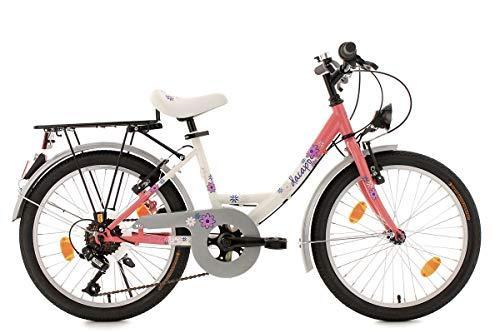 KS Cycling Kinderfahrrad Dacapo 20'' Florida weiß-rosa RH34cm