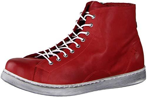 Andrea Conti Damen 0341500 Hohe Sneaker, Rot (Chili 583), 37 EU