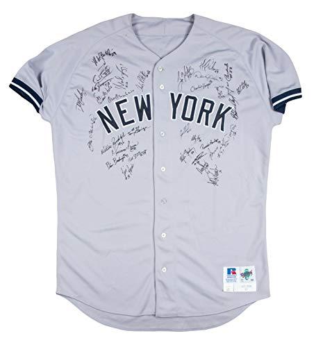 1997 Yankees Team Signed Game Used Jersey Derek Jeter Mariano Rivera Beckett COA