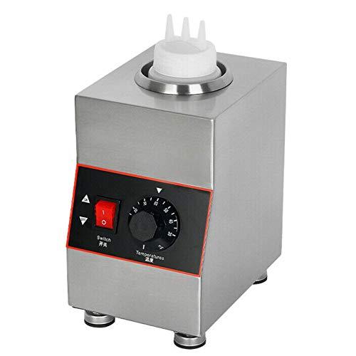 RainWeel Calentador de salsa de acero inoxidable, 650 ml, calentador eléctrico para salsas, chocolate, pastelería, mermelada, máquina de mantenimiento del calor, 1 botella, 160 W