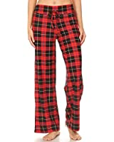PJ10-S650-S Holiday Plaid Print Pajama Pants, Small