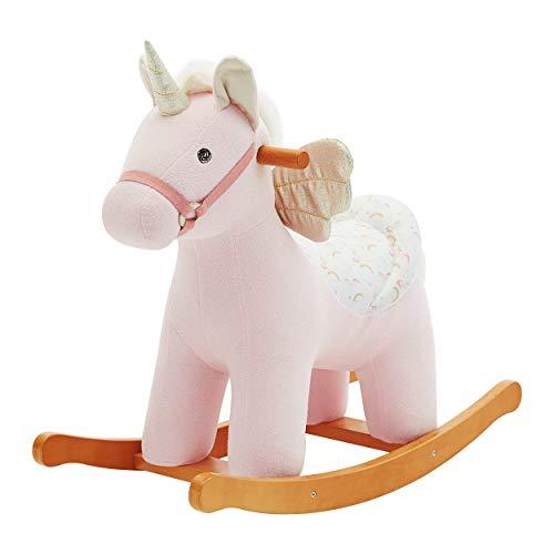 labebe Cavallo a Dondolo , Unicorno Alato Cavalcabile Bambino, Cavallo a Dondolo Legno, Dondolo Bambini 1-3 Anno, Cavallo a Dondolo Peluche, Cavalluccio a Dondolo, Cavallino a Dondolo Bambini
