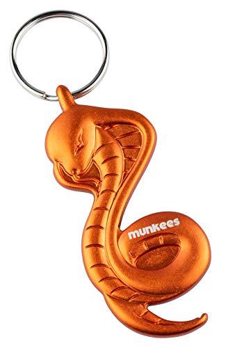 munkees Schlüsselanhänger Snake 3D Kobra Flaschenöffner, Orange, 3516