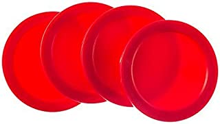 Super Z Outlet Home Air Hockey Red Replacement 2.5 Pucks for Game Tables,  Equipment,  Accessories (4 Pack)