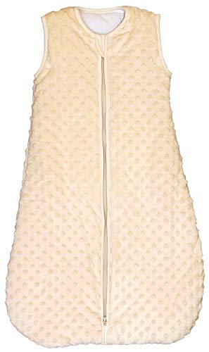 Saco de dormir para bebé, diseño de lunares, color amarillo, 1 tog, Amarillo, Large (24mos - 3T)