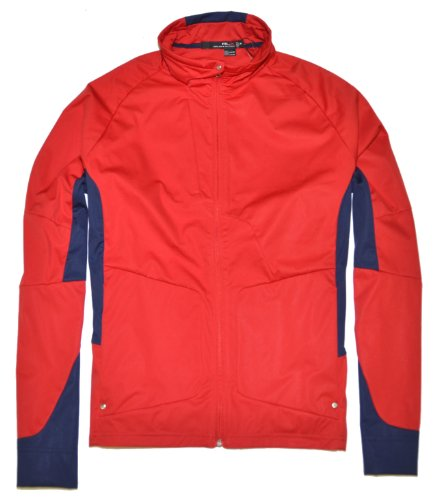 Polo Ralph Lauren RLX - Chaqueta deportiva para hombre con cremallera completa, color rojo y azul marino -  Multi -  Large