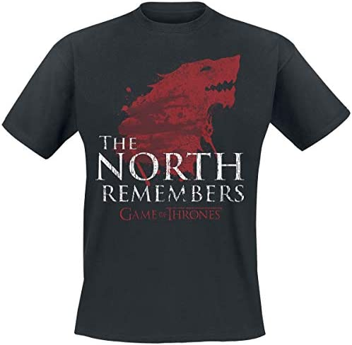 Juego de Tronos House Stark - The North Remembers Camiseta Negro