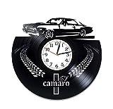 Kovides Chevrolet Camaro Room Art Lp Vinyl Retro Record Wall Clock Exclusive Car Gift Birthday Gift for Him Camaro Clock Xmas Gift Idea Car Art Chevrolet Wall Clock