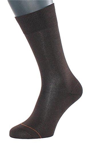Albert Kreuz Business Herren-Socken aus Baumwolle mit Cashmere/Kaschmir-Innenseite braun 1 Paar Gr. 39-41