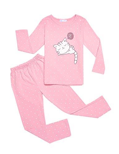 Bricnat Kinder Schlafanzug Mädchen Lang Pyjama Nachtwäsche 110 120 130 140 150