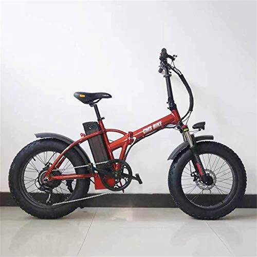 Leifeng Tower High-speed Electric Bicycle Variable Speed Folding Fat Tire Electric Bicycle Snow Beach Mountain Mountain Power-Assisted 20 Inch (Color : 2)