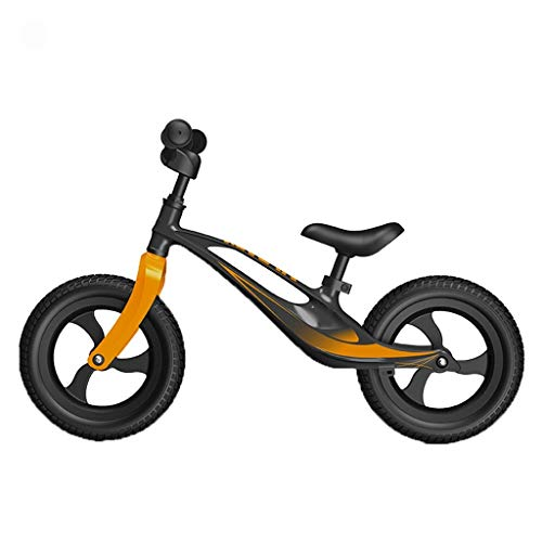 ANQIBIKE Balance Bike, Staffa in Lega di Magnesio Senza Pedale Versione Competitiva Adatta for Bambini di 3-6 Anni (5 Colori) ( Color : Black )