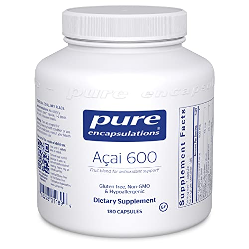 Pure Encapsulations Acai 600   Berry Supplement for Fiber, Immune Support, Antioxidants, and Flavonoids*   180 Capsules