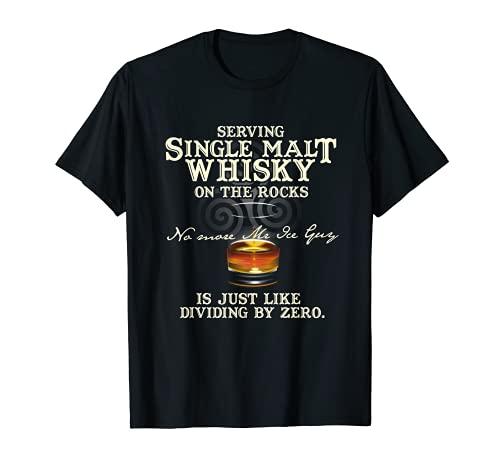 Single Malt Whisky Design Serving Single Malt Whisky Tシャツ