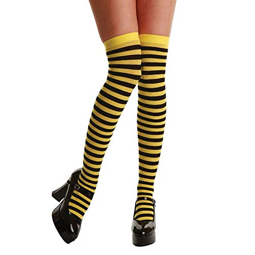 Thigh Highs / Yellow And Black Stripe