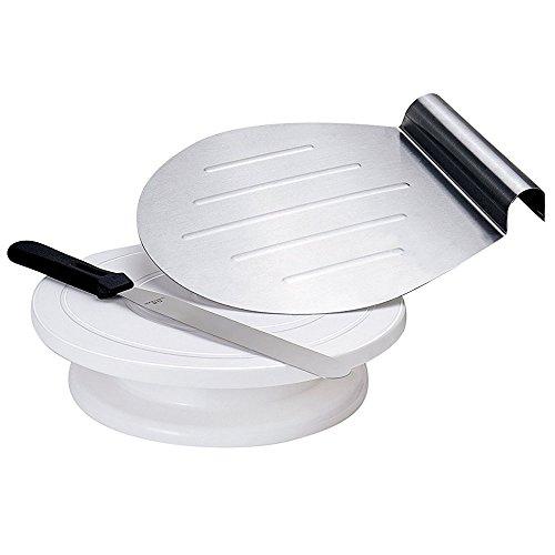 G.a HOMEFAVOR KT019EU Présentoir à gâteaux en acier inoxydable