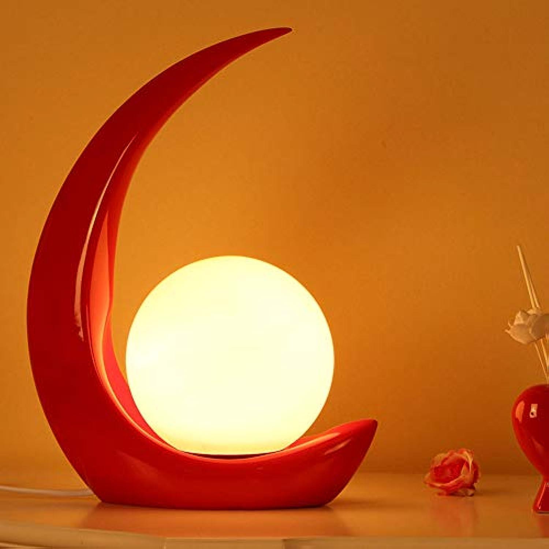 Wghz Mond Harz Nachttisch-Leuchte, Modern Minimalistischer Wohnzimmer Schlafzimmer Studio Tischleuchte Kreative Dekor