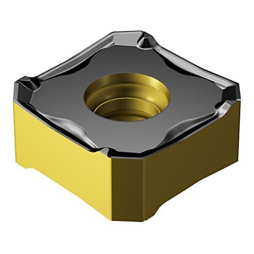 "Sandvik Coromant COROMILL Carbide Milling Insert, 345R Style, Square, GC4220 Grade, Multi-Layer Coating, 345R1305MPM,0.22"" Thick, 0.032"" Corner Radius (Pack of 10)"