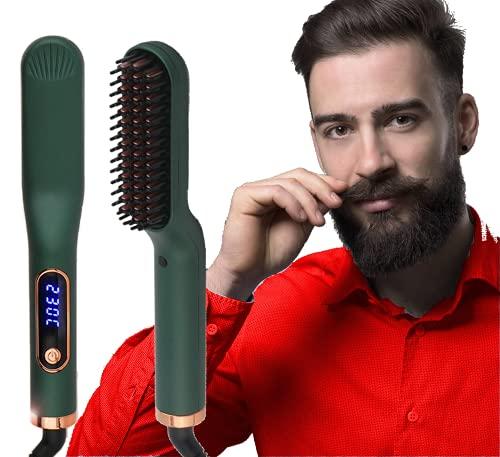 ANNLAN Nuevo Cepillo Alisador de Barba y Cabello multifuncional para Hombres Y...