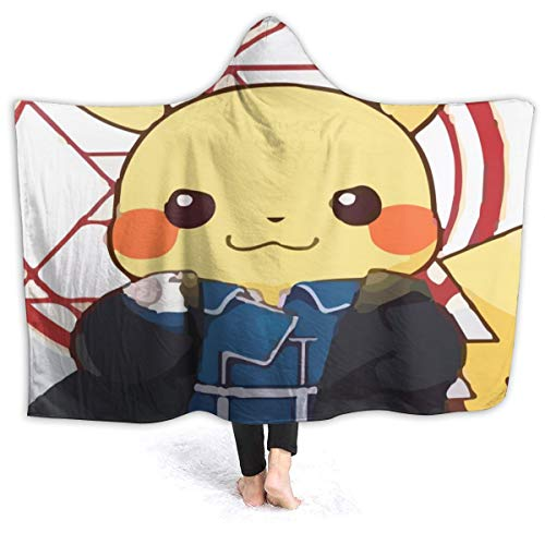 JIEKEME Hooded Blanket Pikachu Doctor Strange Throw Wearable Cuddle Hooded Robe Blanket