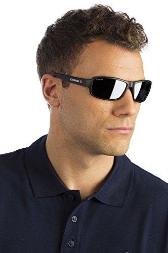 Cressi Ninja Floating Sonnenbrillen, Schwarz/Verspiegelt Linsen Blau, M - 4