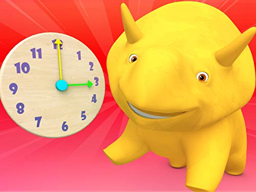 Tell the Time and Count Minutes / Learn Colors and Plays Golf / Learn Numbers with Candies /Dino Goes Fishing