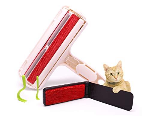 Brainsell Tierhaarentferner & Fusselbürste |3er Set| Fusselrolle für Kleidung und Möbel I inkl. Flusenbürste für Unterwegs und Zeckenhaken
