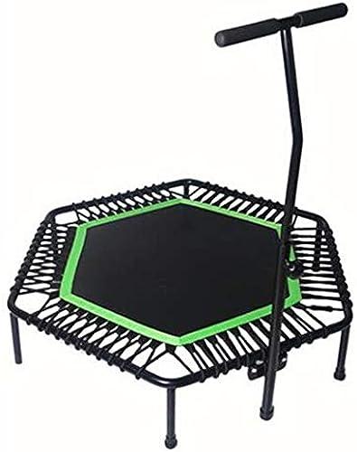 HANSHAN Gartentrampoline Trampoline, Innenelastisches Seil Der Erwachsen-Turnhallen-Ausgangskinder, Das Ausrüstungs-SchwarzGrün 3 Abnimmt Größe (Farbe   E)