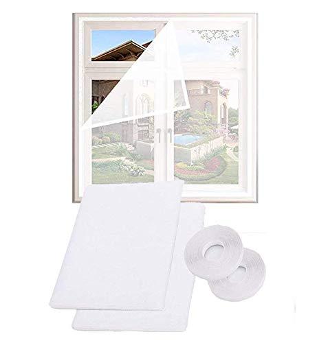Fensternetz für Katzen, selbstklebend, kann ohne Bohren zugeschnitten werden, transparent, Insektenschutz, Moskitonetz, Fensternetz, weiß