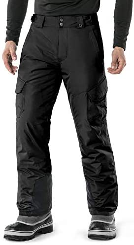 TSLA Men s Winter Snow Pants Waterproof Insulated Ski Pants Ripstop Windproof Snowboard Bottoms product image