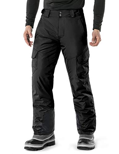 TSLA Men's Snow Pants Windproof Ski Insulated Water-Repel Rip-Stop Bottoms, Snow Cargo(ykb83) -...