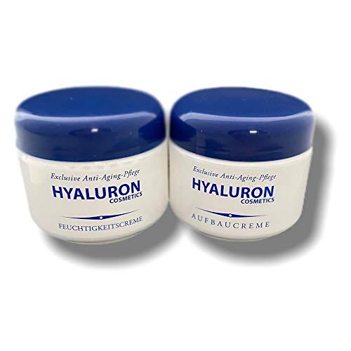2x 125ml ANTI-AGING Hyaluron Tages- und Nachtcreme Gesichtscreme | Feuchtigkeitscreme & Aufbaucreme mit Vitamin E | Hyaluronsäure Serum | Gesichtspflege |...