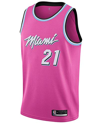 Hassan Whiteside Miami Heat #21 Official Youth 8-20 Swingman Jersey (8, Hassan Whiteside Miami Heat Pink Earned Edition)