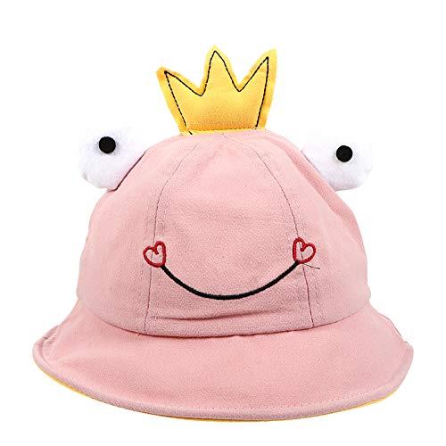 Gadpiparty Sombrero de Rana Sombrero de Sapo para Bebé Sombrero de Cubo de Rana para Niños Sombrero de Rana de Algodón Sombrero de Sol Plegable para Exteriores para Niñas/Niños de 1 a 3